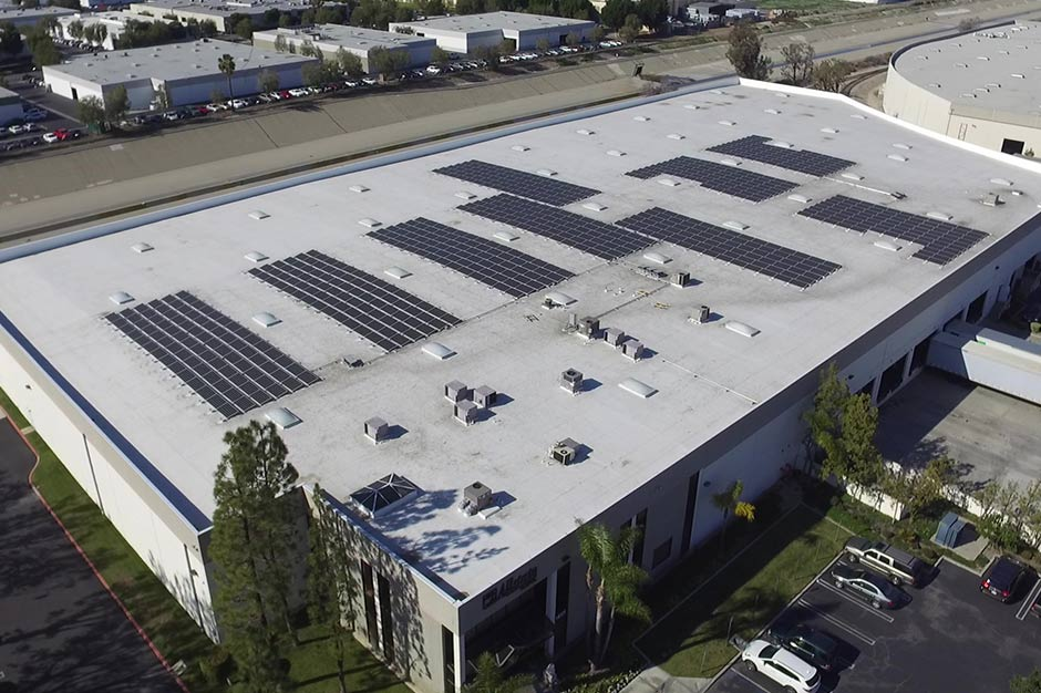 Commercial Rooftop Solar System Ontario Ca Sungreen