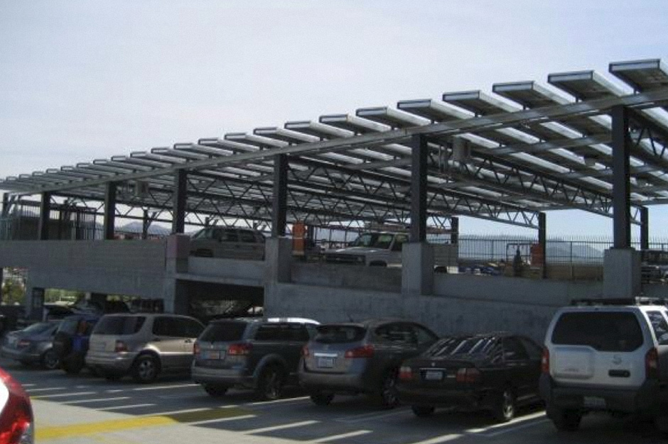 Rooftop Solar System Amp Parking Canopy For A Parking Garage