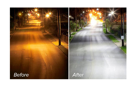 LED Lights Before and After