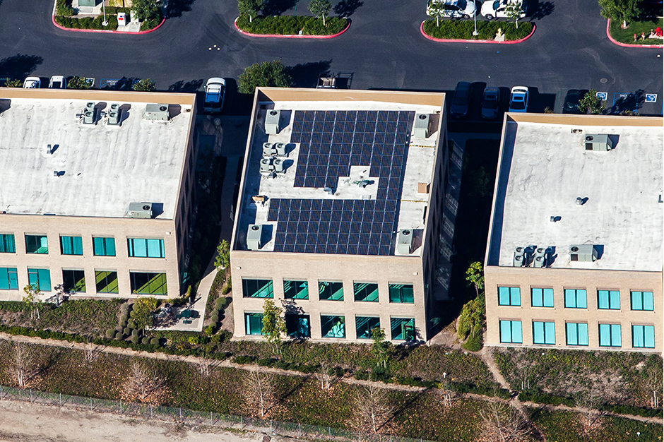 Rooftop solar panel installation for real state